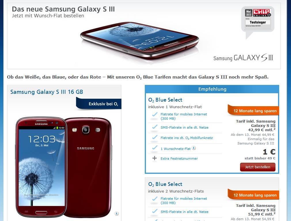 Rotes Samsung Galaxy S3 in Deutschland gesichtet