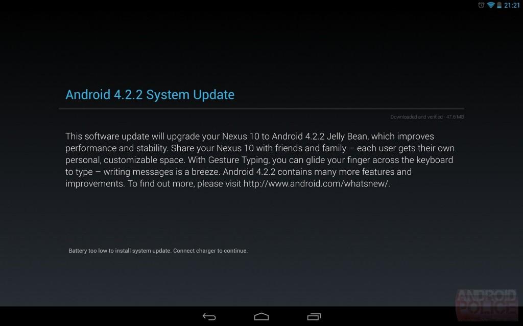 Android 4.2.2 OTA Update in Amerika für Nexus Geräte gestartet