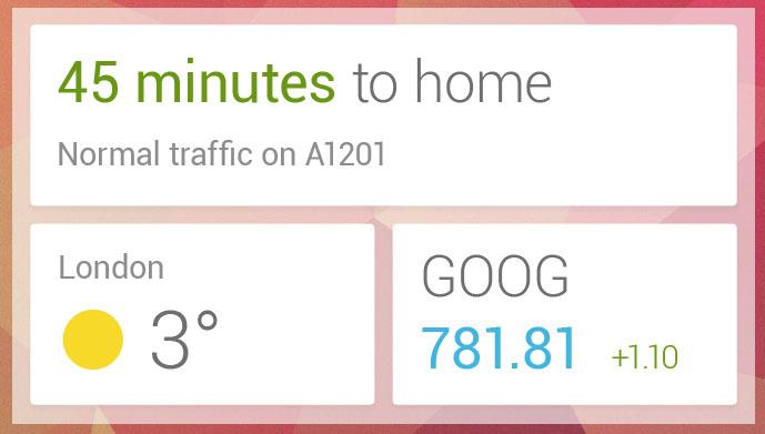Google Now erhält eigenes Widget