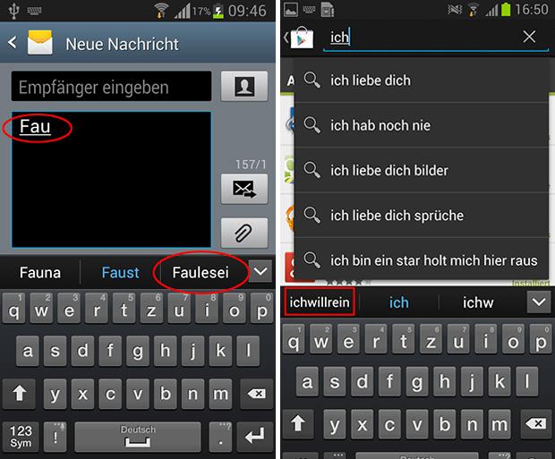 Samsung: Autokorrektur zeigt Passwörter im Klartext