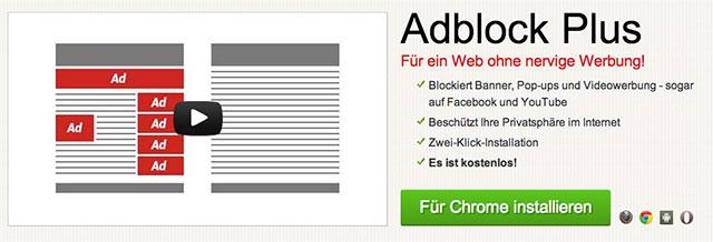 Adblock Plus: Download über offizielle Website möglich