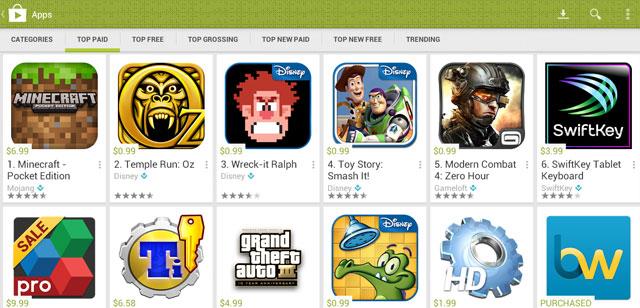 Play Store 4.0 Leak gibt erste Einblicke in neues Design