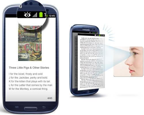 Samsung Galaxy S4 ermöglicht scrollen mit den Augen?