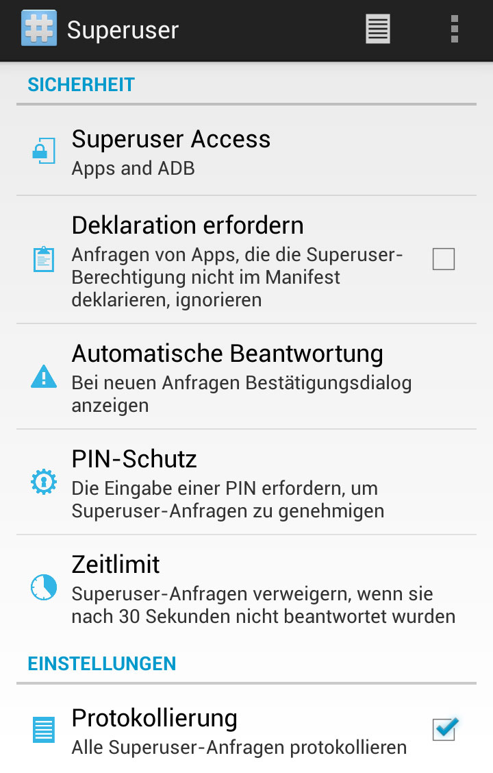 ClockworkMod Superuser App ab sofort im Play Store
